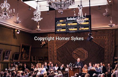 SOTHEBYS AUCTION VON HIRSCH COLLECTION, Robert Von Hirsch collection sale at Sotheby's Bond Street London 1978 Peter Wilson Chairman auctioneer