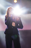 Isabelle Boulay performs at the St-Jean show on the Plains of Abraham in Quebec City during the Fête nationale du Quebec, Thursday June 23, 2016. St-Jean Baptist is Quebec National day and is traditionally celebrated on the Plains of Abraham with a concert and a huge fire.