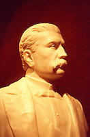 Bust of Mexican president and dictator Porfirio Diaz in the Museum of Oaxacan Cultures, Oaxaca city, Mexico
