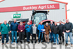 Abbeydorney Ploughing Championships: Paudie Buckley of Buckley Agri, Listowel presents a sponsored cheque to Tom McCarthy of Abbeydorney Ploughing  Committee in Listowel on Friday last. L-R: Tom O'Mahony, John Lawlor, Aeneas Horan, Michael Fitzmaurice, Jimmy Lawlor, Tom McCarthy, Paudie Buckley, Henry Buckley, Donal Mulvihill, Michael Lynch, Tom Rice & Timmy McCarthy in Tractor. The competition will be held on the lands of Bernie Dowling, Kilbricane, Abbeydorney on Sunday 14th October.