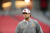 Aug. 22, 2009; Glendale, AZ, USA; Arizona Cardinals quarterback (7) Matt Leinart against the San Diego Chargers during a preseason game at University of Phoenix Stadium. Mandatory Credit: Mark J. Rebilas-
