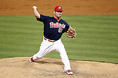 Memphis Redbirds pitcher Blake King #51 delivers a pitch during a game versus the Round Rock Express at Autozone Park on April 28, 2011 in Memphis, Tennessee.  Memphis defeated Round Rock by the score of 6-5 in ten innings.  Photo By Mike Janes/Four Seam Images