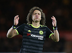 David Luiz of Chelsea  reacts to a missed free kick during the English Premier League match at the Riverside Stadium, Middlesbrough. Picture date: November 20th, 2016. Pic Simon Bellis/Sportimage