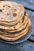 Asie/Inde/Maharashtra/Bombay: Pile de naans