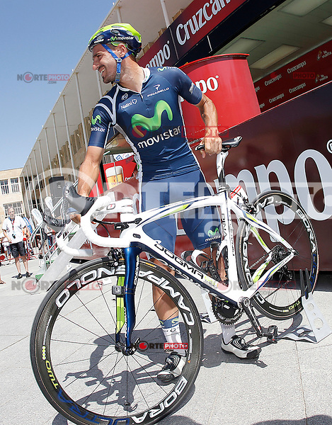 Juan Jose Cobo during the stage of La Vuelta 2012 between Logroño and Logroño.August 22,2012. (ALTERPHOTOS/Acero) /NortePhoto.com<br />