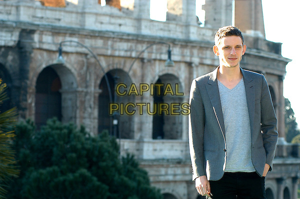 "JAMIE BELL.Photocall for ""Jumper"", Rome, Italy..February 6th, 2008.half length grey gray jacket.CAP/CAV.©Luca Cavallari/Capital Pictures."