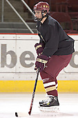 Brett Motherwell - Boston College's morning skate on Friday, December 30, 2005 at Magness Arena in Denver, Colorado.  Boston College defeated Ferris State that afternoon in a shootout and defeated Princeton the following night to win the Denver Cup.