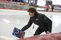 SPEEDSKATING: INZELL: Max Aicher Arena, 09-02-2019, ISU World Single Distances Speed Skating Championships, Daan Rottier (trainer/coach Germany), ©photo Martin de Jong