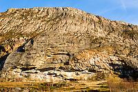 Stokksund, Norway. Cliff often used by climbers on Harbak.