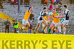 Declan O'Sullivan and Denis Daly South Kerry in Action against Jamie O'Sullivan and Shaun Keane Legion in the Kerry County Senior Football Final at Fitzgerald Stadium on Sunday.