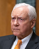 United States Senator Orrin Hatch (Republican of Utah), chairman, US Senate Committee on Finance, questions witnesses during a confirmation hearing on Capitol Hill in Washington, DC on Wednesday, August 22, 2018.<br /> Credit: Ron Sachs / CNP