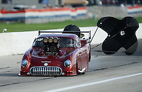 Aug. 31, 2012; Claremont, IN, USA: NHRA pro mod driver Scott Ray during qualifying for the US Nationals at Lucas Oil Raceway. Mandatory Credit: Mark J. Rebilas-
