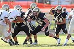 Palos Verdes, CA 10/02/09 - The Vista Murietta Broncos visited the Peninsula Panthers in a non-league contest, won 43-21 by Vista Murietta.  In action are Gregory Hoffman (#55)