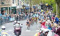 Picture by Allan McKenzie SWpix.com - 04/05/2018 - Cycling - 2018 Asda Women's Tour de Yorkshire - Stage 2: Barnsley to Ilkley - The break comes through Ilkley.