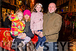 L-R Leah, Tanya, Aoife and  Jerry Horgan from Ballyvourney at the Christmas in Killarney Children's Magic Parade last Saturday.