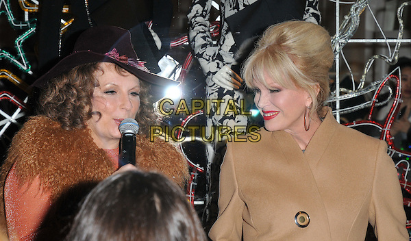 Jennifer Saunders &amp; Joanna Lumley attend the Stella McCartney 2015 Christmas Lights switch on party, Stella McCartney boutique, Bruton Street, London, England, UK, on Wednesday 25 November 2015.<br /> CAP/CAN<br /> &copy;CAN/Capital Pictures