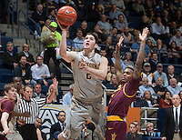 Sam Singer of California shoots the ball during the game against Arizona State at Haas Pavilion in Berkeley, California on January 29th, 2014.   Arizona State defeated California, 89-78.
