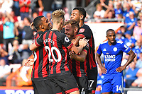 AFC Bournemouth players mob Ryan Fraser of AFC Bournemouth after scoring the second goal during AFC Bournemouth vs Leicester City, Premier League Football at the Vitality Stadium on 15th September 2018