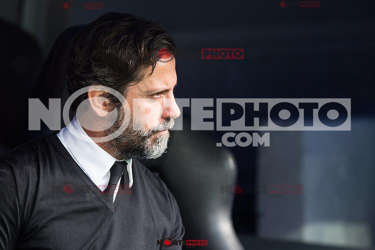 Enrique Sanchez Flores of RCD Espanyol during the match of La Liga between Real Madrid and RCE Espanyol at Santiago Bernabeu  Stadium  in Madrid , Spain. February 18, 2016. (ALTERPHOTOS/Rodrigo Jimenez) /Nortephoto.com