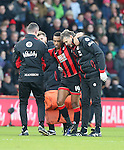 Bournemouth's Junior Stanislas goes off injured during the Premier League match at the Vitality Stadium, London. Picture date December 4th, 2016 Pic David Klein/Sportimage