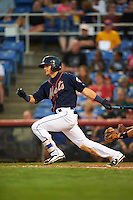 Binghamton Mets shortstop Gavin Cecchini (2) at bat during a game against the Trenton Thunder on August 8, 2015 at NYSEG Stadium in Binghamton, New York.  Trenton defeated Binghamton 4-2.  (Mike Janes/Four Seam Images)
