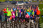 The Born to Run Athletic group who  in preparation on Saturday morning for the Kerry's Eye Full/Half Marathon