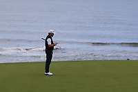 Graeme McDowell (NIR) on the 4th green during Round 2 of the Alfred Dunhill Links Championship 2019 at Kingbarns Golf CLub, Fife, Scotland. 27/09/2019.<br /> Picture Thos Caffrey / Golffile.ie<br /> <br /> All photo usage must carry mandatory copyright credit (© Golffile | Thos Caffrey)