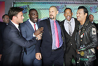NEW YORK, NY-August 01`: Scott Eastwood, Will Smith,David Ayer, Adewale Akinnuoye-Agbaje, Adam Bearch at Warner Bros. Pictures & DC, Atlas Entertainment  presents the World Premiere of Suicide Squad  at the Beacon Theatre in New York. NY August 01, 2016. Credit:RW/MediaPunch