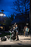 USA, Oregon, Ashland, performers at the Green Show outside of the Angus Bowmer Theater, the Oregon Shakespeare Festival