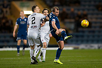 3rd March 2020; Dens Park, Dundee, Scotland; Scottish Championship Football, Dundee FC versus Alloa Athletic; Paul McGowan of Dundee clears the ball from Scott Taggart of Alloa Athletic
