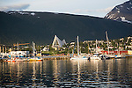 The Arctic Cathedral, Tromso, Norway architect Jan Inge Hovig completed 1965midnight summer sun