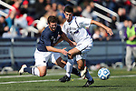 21 October 2012: Penn State's Matt Mayewski (2) and Northwestern's Scott Lakin (21). The Northwestern University Wildcats played the Penn State University Nittany Lions at Lakeside Field in Evanston, Illinois in a 2012 NCAA Division I Men's Soccer game. Penn State won the game 1-0 in golden goal overtime.