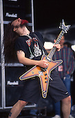 Pantera - guitarist Dimebag Darrell Abbott performing live on the main stage at the Monsters of Rock Festival held at Castle Donington UK - 04 Jun 1994. Photo credit: George Chin/IconicPix