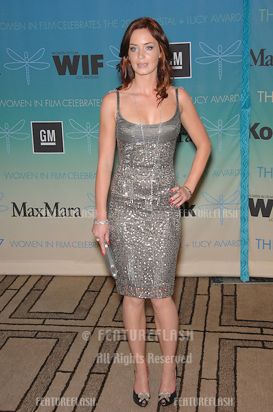 Emily Blunt at the Women in Film 2007 Crystal + Lucy Awards at the Beverly Hilton Hotel..June 15, 2007  Beverly Hills, CA.Picture: Paul Smith / Featureflash