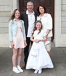 Aoife Meier with her parents Ken and Edel and big sister Tara.