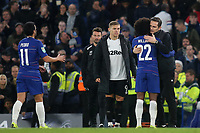 Derby County Manager, Frank Lampard, embraces Willian of Chelsea at the final whistle during Chelsea vs Derby County, Caraboa Cup Football at Stamford Bridge on 31st October 2018