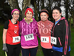 Elva Maree, sarah McKernan, Aine Connor and Fran Hodgins who took part in Erin's Run. Photo:Colin Bell/pressphotos.ie
