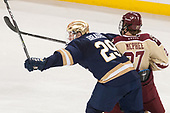 Bo Brauer (Notre Dame - 29), Graham McPhee (BC - 27) - The Boston College Eagles defeated the University of Notre Dame Fighting Irish 6-4 (EN) on Saturday, January 28, 2017, at Kelley Rink in Conte Forum in Chestnut Hill, Massachusetts.The Boston College Eagles defeated the University of Notre Dame Fighting Irish 6-4 (EN) on Saturday, January 28, 2017, at Kelley Rink in Conte Forum in Chestnut Hill, Massachusetts.