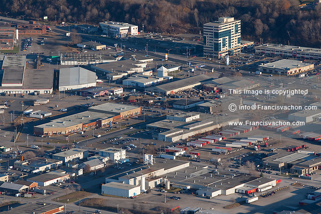 Parc industriel St-Malo industrial park in Quebec city is pictured in this aerial photo November 11, 2009.