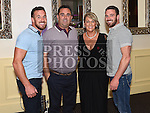 Geraldine McDowell celebrating her 40th birthday in The d hotel with her brothers Thomas, Tony and Stephen. Photo:Colin Bell/pressphotos.ie