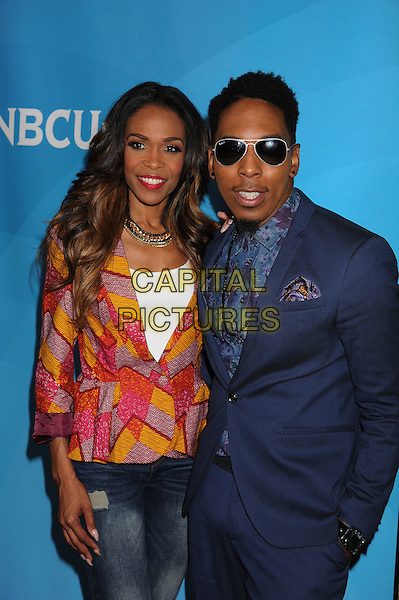BEVERLY HILLS, CA- JULY 14: Singer Michelle Williams (L) and actor Deitrick Haddon attend the 2014 Television Critics Association Summer Press Tour - NBCUniversal - Day 2 held at the Beverly Hilton Hotel on July 14, 2014 in Beverly Hills, California.<br /> CAP/ROT/TM<br /> &copy;Tony Michaels/Roth Stock/Capital Pictures