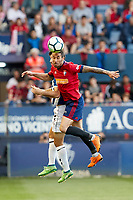Lillo (defender; CA Osasuna) during the Spanish la League soccer match between CA Osasuna and Lorca FC at Sadar stadium, in Pamplona, Spain, on Saturday, <br /> May 27, 2018.