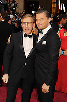 WWW.BLUESTAR-IMAGES.COM   Actors Christoph Waltz (L) and Leonardo DiCaprio attend the 86th Annual Academy Awards held at Hollywood &amp; Highland Center on March 2, 2014 in Hollywood, California.<br /> Photo: BlueStar Images/OIC jbm1005  +44 (0)208 445 8588
