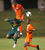 Virginia's plays against Goerge Mason during an exhibition game August 21, 2009 at Klockner Stadium in Charlottesville, VA. Photo/Andrew Shurtleff.