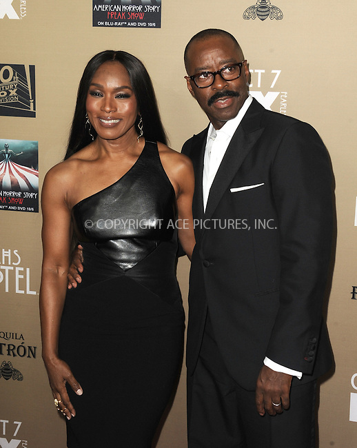 WWW.ACEPIXS.COM<br /> <br /> October 3 2015, LA<br /> <br /> Angela Bassett and Courtney B. Vance arriving at the premiere of FX's 'American Horror Story: Hotel' at the Regal Cinemas L.A. Live on October 3, 2015 in Los Angeles, California.<br /> <br /> <br /> By Line: Peter West/ACE Pictures<br /> <br /> <br /> ACE Pictures, Inc.<br /> tel: 646 769 0430<br /> Email: info@acepixs.com<br /> www.acepixs.com