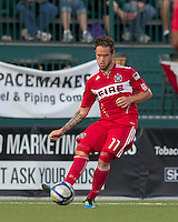 Chicago Fire midfielder Daniel Paladini (11) passes the ball. In a Third Round U.S. Open Cup match, the Chicago Fire defeated the Rochester Rhinos, 1-0, at Sahlens Stadium on June 28, 2011.