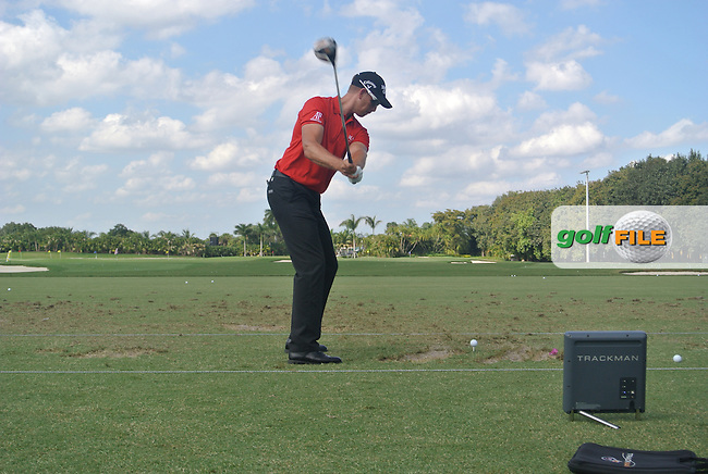 Henrik STENSON (SWE) on the range during the practice day at the WGC Cadillac Championship, Blue Monster, Trump National Doral, Miami, Florida,USA.<br /> Picture: Fran Caffrey www.golffile.ie