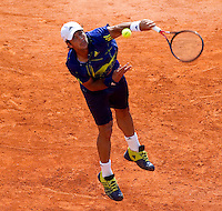 Fernando VERDASCO (ESP) against Tomas BERDYCH (CZE) in the third round. Fernando Verdasco beat Tomas Berdych 5-7 6-3 6-2..International Tennis - 2010 ATP World Tour - Masters 1000 - Monte-Carlo Rolex Masters - Monte-Carlo Country Club - Alpes-Maritimes - France..© AMN Images, Barry House, 20-22 Worple Road, London, SW19 4DH.Tel -  + 44 20 8947 0100.Fax - + 44 20 8947 0117