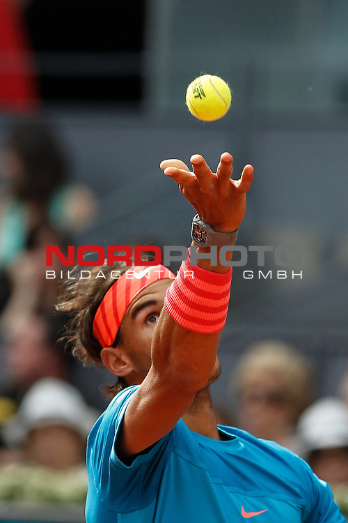 Rafael Nadal from Spain during his Madrid Open tennis tournament match against Steve Johnson from USA in Madrid, Spain. May 06, 2015. Foto © nph / Victor Blanco)
