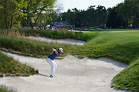 Jon Rahm (ESP) on the 13th fairway bunker during the 1st round at the PGA Championship 2019, Beth Page Black, New York, USA. 17/05/2019.<br /> Picture Fran Caffrey / Golffile.ie<br /> <br /> All photo usage must carry mandatory copyright credit (© Golffile | Fran Caffrey)